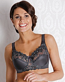 Miss Mary Full Cup Wired Grey Bra