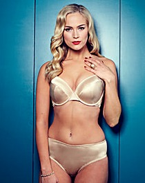 Splendour Gold Diamante Back Plunge Bra