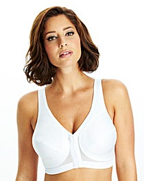 Glamorise Back Support White Bra