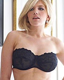 Worlds Largest Strapless Bra Black