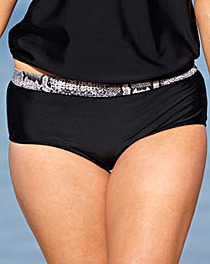 Beach To Beach Black Bikini Shorts