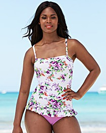Simply Yours Bandeau Frill Hem Swimsuit