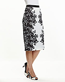 Joanna Hope Print Pencil Skirt