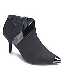 Sole Diva Toe Cap Ankle Boot E Fit