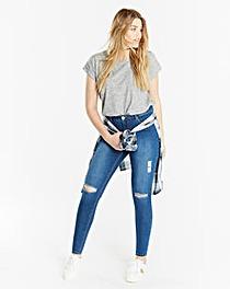 Chloe Ripped Knee Skinny Jeans Reg