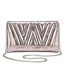 Joanna Hope Quilted Metallic Clutch Bag