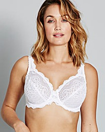 Playtex Flower Lace White Wired Bra