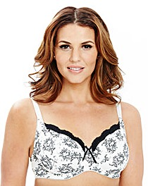 2 Pack Full Cup Wired Print Cerise Bras