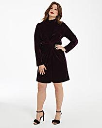 Fashion Union Twist Knot Velvet Dress