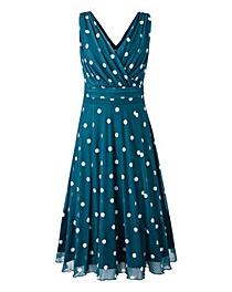 Scarlett & Jo Polka Dot Mesh Dress