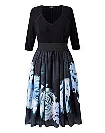 Scarlett & Jo Rose Print Twofor Dress