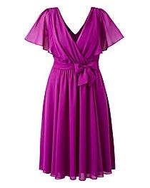 Scarlett & Jo Flutter Sleeve Dress