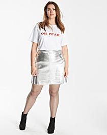 Glamorous Curve Metallic Skirt