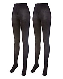 Pack of 2 120 Denier Opaque Tights