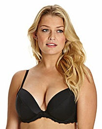 Plunge Wired Curve Enhancer Black Bra