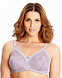 2 Pack Full Cup Non Wired LilacWhite Bra