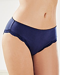 2 Pack Sophie Mid Rise Navy/White Briefs