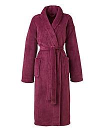 Pretty Secrets Fluffy Fleece Gown 42in