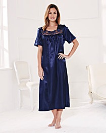 Naturally Close Satin Nightdress 48in