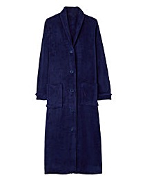 Pretty Secrets Button Fleece Gown 48""