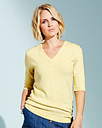 Super Soft V Neck Short Sleeve Sweater