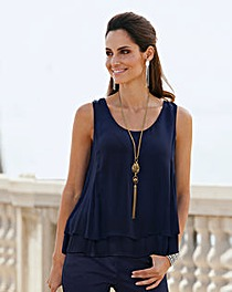 Together Layered Chiffon Top
