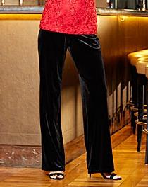Joanna Hope Velour Trouser 27in