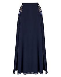 JOANNA HOPE Bead-Trim Maxi Skirt