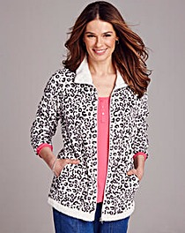 Print Fleece Jacket
