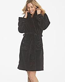 Pretty Secrets Textured Fleece Gown