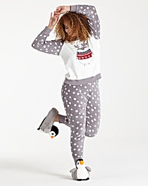 Pretty Secrets Fluffy Penguin Pyjama Set