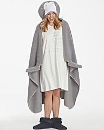 Pretty Secrets Fluffy Penguin Blanket