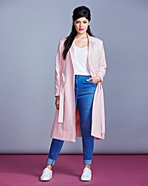 Simply Be Belted Midi Coat