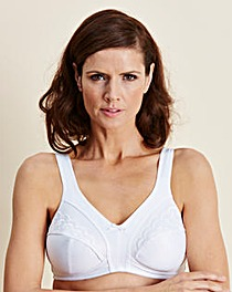 2 Pack Minimiser NonWired White Bras