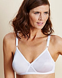 4 Pack Claire White Non Wired Bras