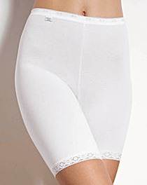Sloggi Basic Long Leg White Briefs