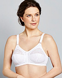 Dotty Full Cup Non Wired White Bra