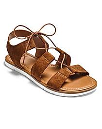 Sole Diva Lace Up Suede Sandals D Fit