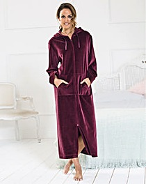 Pretty Secrets Velour Zip Gown 50in