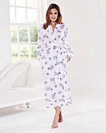 Pretty Secrets Floral Print Wrap Gown