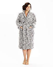 Pretty Secrets Fleece Wrap Gown 42inches
