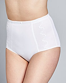 Dotty Firm Control White Pantee Girdle