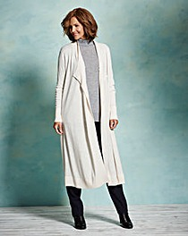 Merino Wool-Mix Longline Cardigan