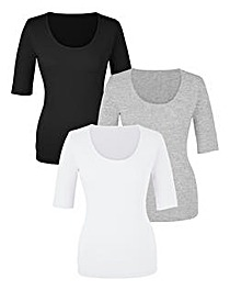 Pack of 3 Short Sleeve T-Shirts