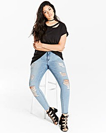 Chloe Distressed Skinny Jeans Reg
