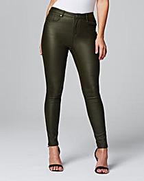 Chloe Stretch Coated Skinny Jeans Reg