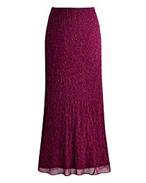 Joanna Hope Bias Cut Beaded Maxi Skirt