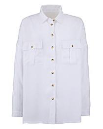 White Oversized Boyfriend Shirt