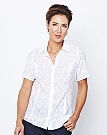 Burnout Cotton Crinkle Blouse