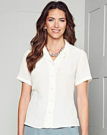 Short Sleeve Crinkle Blouse